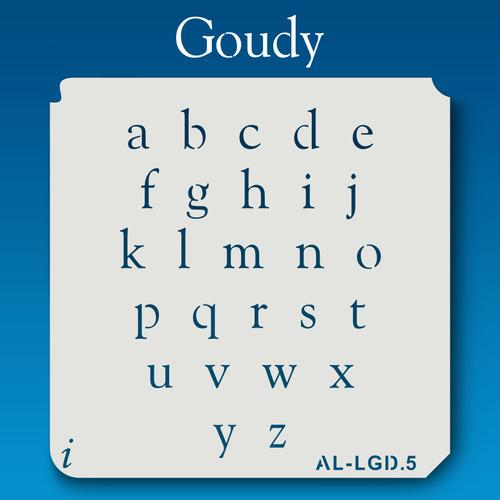 AL-LGD Goudy -  Alphabet  Stencil Lowercase