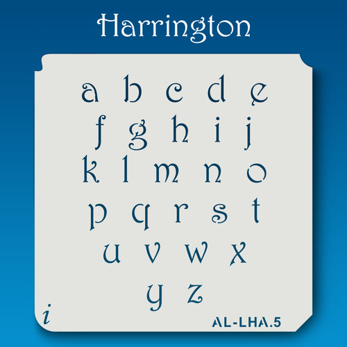 AL-LHA Harrington -  Alphabet  Stencil Lowercase