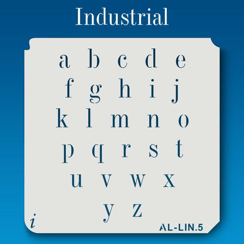 AL-LIN Industrial -  Alphabet  Stencil Lowercase