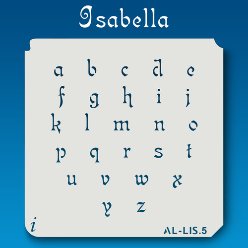 AL-LIS Isabella -  Alphabet  Stencil Lowercase