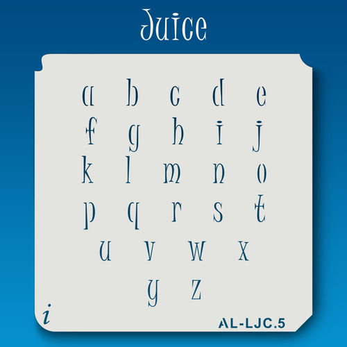 AL-LJC Juice -  Alphabet  Stencil Lowercase