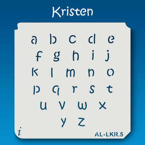 AL-LKR Kristen -  Alphabet  Stencil Lowercase
