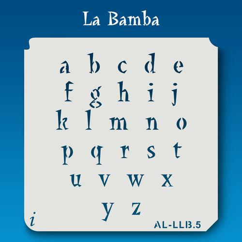 AL-LLB La Bamba -  Alphabet  Stencil Lowercase