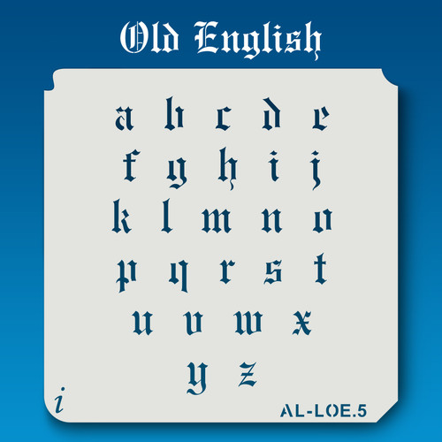 AL-LOE Old English -  Alphabet  Stencil Lowercase