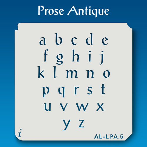 AL-LPA Prose Antique -  Alphabet  Stencil Lowercase