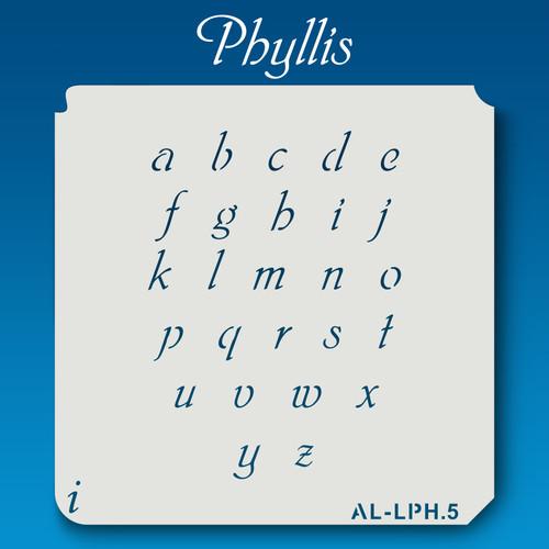 AL-LPH Phyllis -  Alphabet  Stencil Lowercase