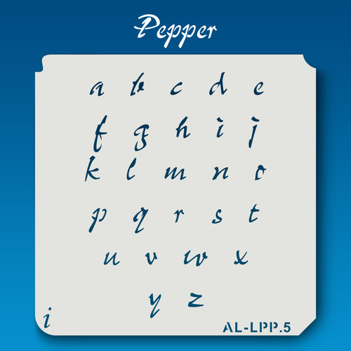 AL-LPP Pepper -  Alphabet  Stencil Lowercase