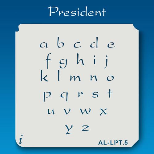AL-LPT President -  Alphabet  Stencil Lowercase
