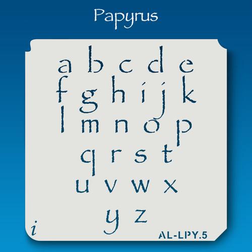 AL-LPY Papyrus -  Alphabet  Stencil Lowercase