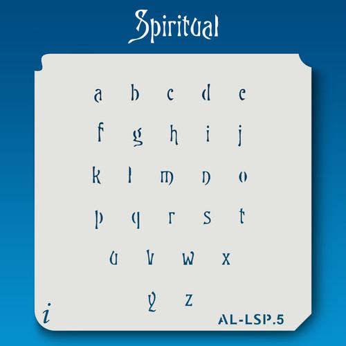 AL-LSP Spiritual -  Alphabet  Stencil Lowercase