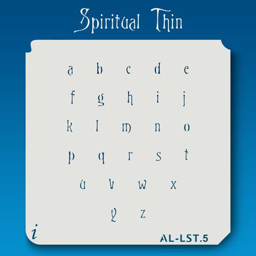 AL-LST Spiritual Thin -  Alphabet  Stencil Lowercase