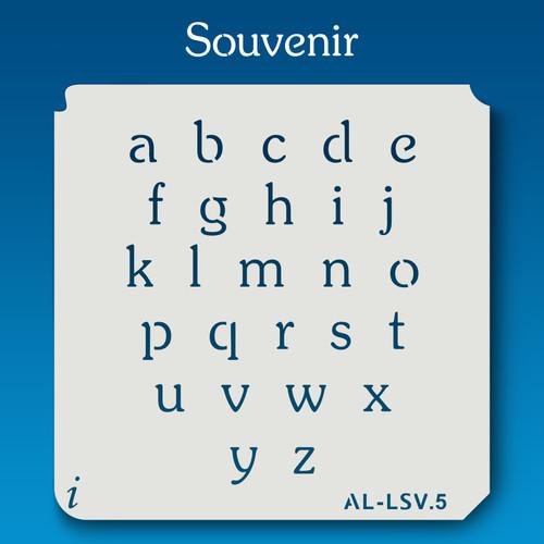 AL-LSV Souvenir -  Alphabet  Stencil Lowercase