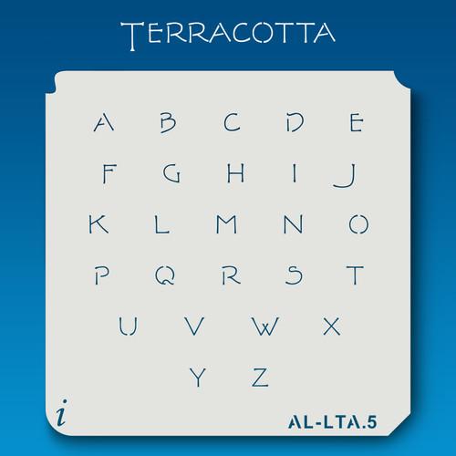 AL-LTA Terracotta -  Alphabet  Stencil Lowercase