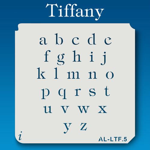 AL-LTF Tiffany -  Alphabet  Stencil Lowercase