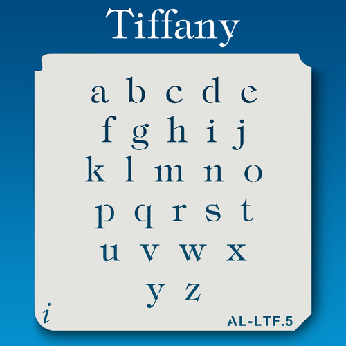 AL-LTF Tiffany -  Alphabet  Stencil Lowercase