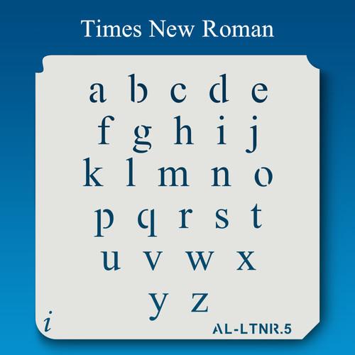 AL-LTNR Times New Roman -  Alphabet  Stencil Lowercase