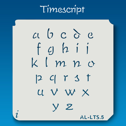 AL-LTS Timescript -  Alphabet  Stencil Lowercase