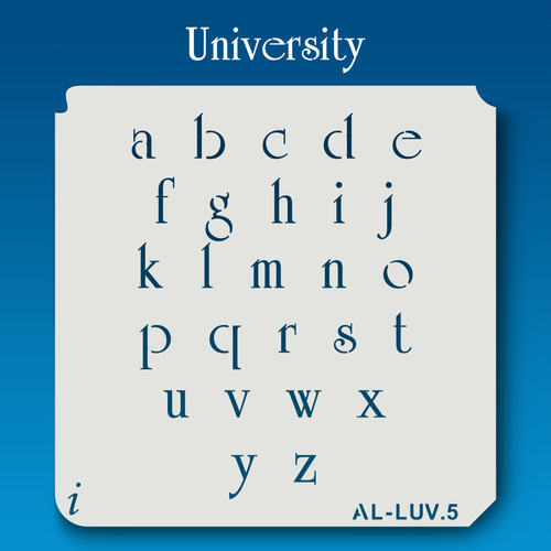 AL-LUV University -  Alphabet  Stencil Lowercase