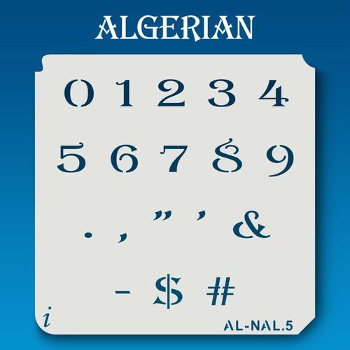 AL-NAL Algerian - Numbers Stencil