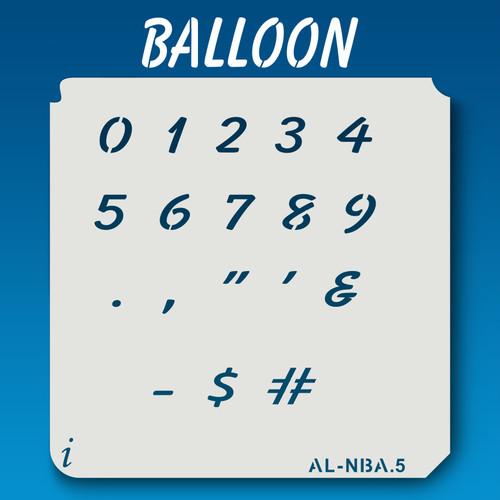 AL-NBA Balloon - Numbers  Stencil