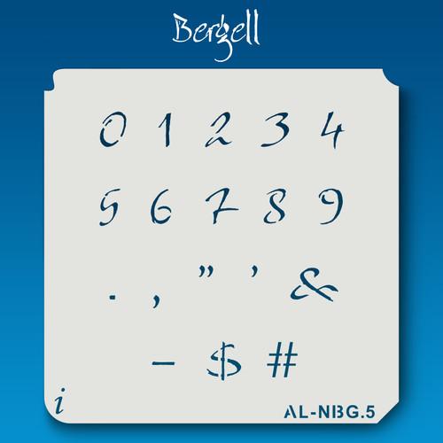 AL-NBG Bergell - Numbers  Stencil