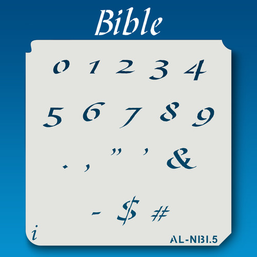 AL-NBI Bible - Numbers  Stencil
