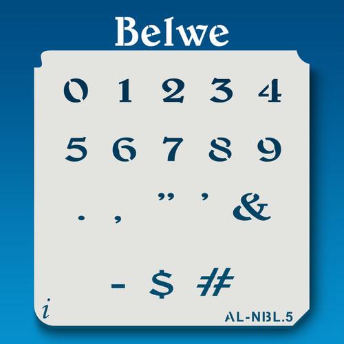 AL-NBL Belwe - Numbers  Stencil