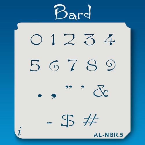 AL-NBR Bard - Numbers  Stencil