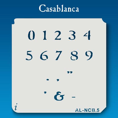AL-NCB Casablanca - Numbers  Stencil