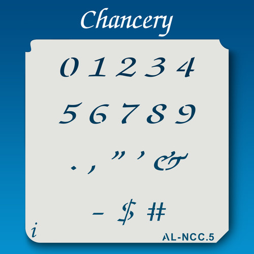 AL-NCC Chancery - Numbers  Stencil