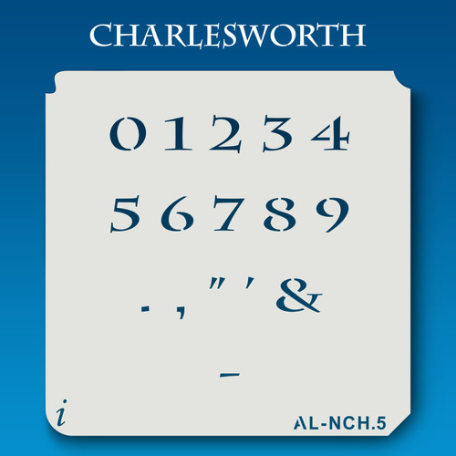 AL-NCH Charlesworth - Numbers  Stencil