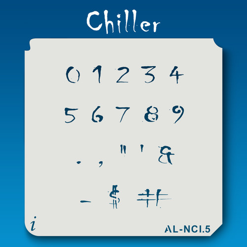 AL-NCI Chiller - Numbers  Stencil