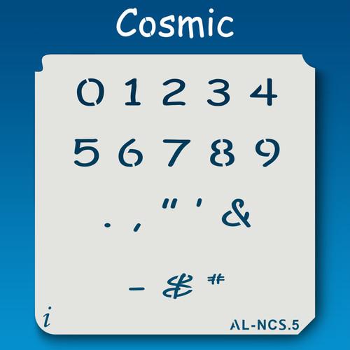 AL-NCS Cosmic - Numbers  Stencil