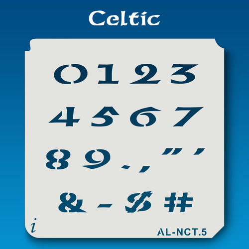 AL-NCT Celtic - Numbers  Stencil