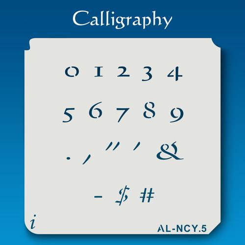 AL-NCY Calligraphy - Numbers  Stencil