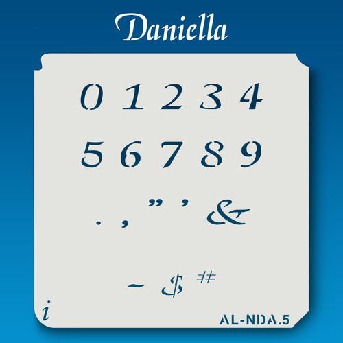 AL-NDA Daniella - Numbers  Stencil