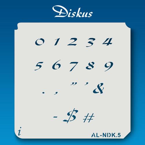 AL-NDK Diskus - Numbers  Stencil