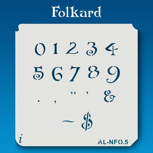 AL-NFO Folkard - Numbers  Stencil