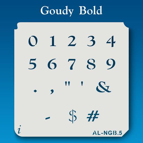 AL-NGB Goudy Bold - Numbers  Stencil
