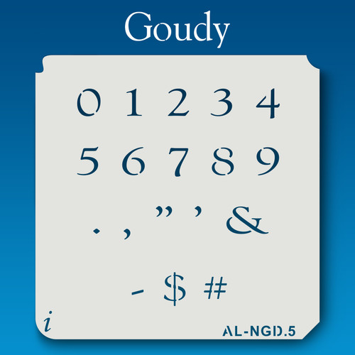 AL-NGD Goudy - Numbers  Stencil