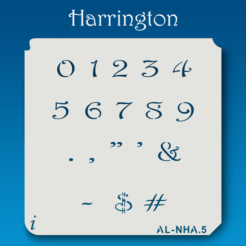 AL-NHA Harrington - Numbers  Stencil