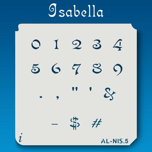AL-NIS Isabella - Numbers  Stencil