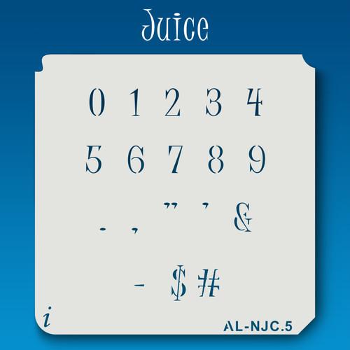 AL-NJC Juice - Numbers  Stencil