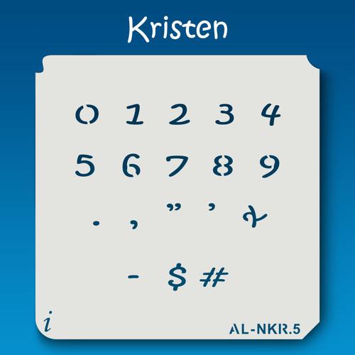 AL-NKR Kristen - Numbers  Stencil