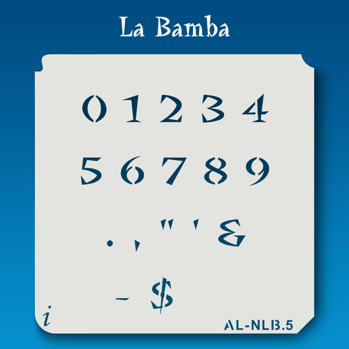 AL-NLB La Bamba - Numbers  Stencil