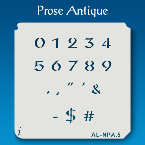 AL-NPA Prose Antique - Numbers  Stencil