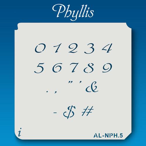 AL-NPH Phyllis - Numbers  Stencil