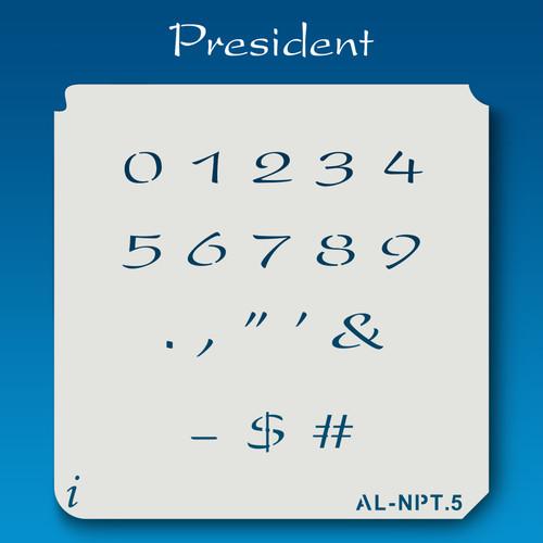 AL-NPT President - Numbers  Stencil