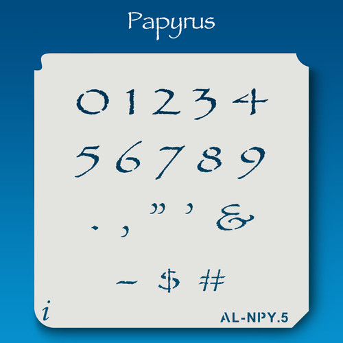 AL-NPY Papyrus - Numbers  Stencil