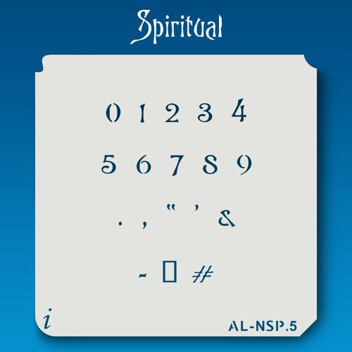AL-NSP Spiritual - Numbers  Stencil